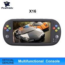 Powkiddy console de vídeo game x16 7 Polegada, console portátil 8/16gbretro, player de jogos clássico de mão para neogeo arcade jogos de jogadores