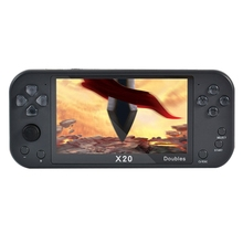 X20 5.1-Inch Handheld Game Console, Retro Video Games Console for Kids, Supporting 2 Players and TV, 2500MAh 8GB