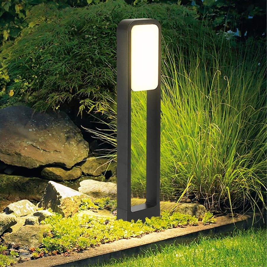 Thrisdar 50/70CM Outdoor Garden Pole Bollard Light 20W Villa Garden Standing Post Light Aluminium Landscape Pathway Lawn Lamp