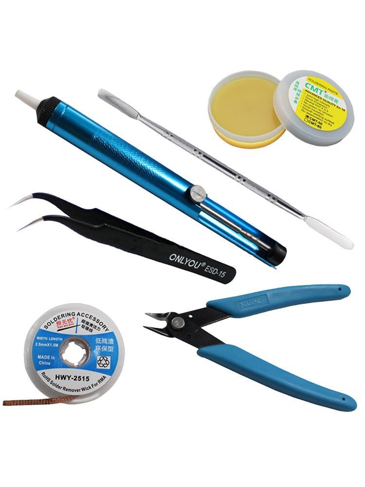 pincas cortadores fluxo wick raspador ferramenta eletronica 05