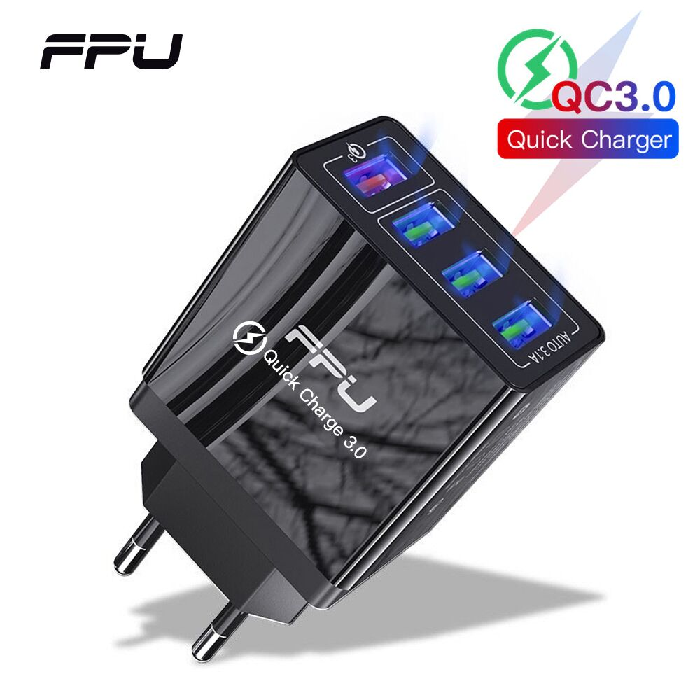 FPU Quick Charge <font><b>4</b></font>.0 3.0 <font><b>USB</b></font> Charger 48W QC <font><b>QC3.0</b></font> Fast Charger Wall Adaper Multi <font><b>Port</b></font> Portable Mobile Phone Charger For Xiaomi image