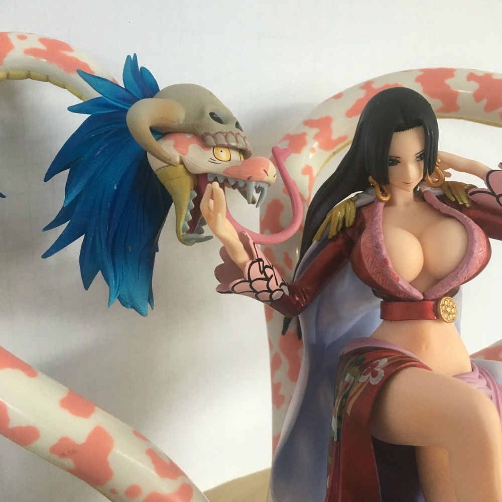 One Piece Portrait Of Pirates Neo Maximum Boa Hancock With Snake 15th Anniversary <font><b>Sexy</b></font> PVC Anime <font><b>Action</b></font> <font><b>Figure</b></font> Model <font><b>Toys</b></font> 21CM image