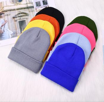 Winter Hats for Unisex New Beanies Knitted Solid Cute Hat Lady Autumn Female Beanie Caps Warmer Bonnet Men Casual Cap Wholesale - discount item  2% OFF Hats & Caps
