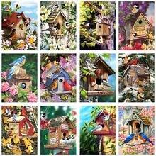 5d Сделай Сам дерево Птичье гнездо Алмазная картина вышивка
