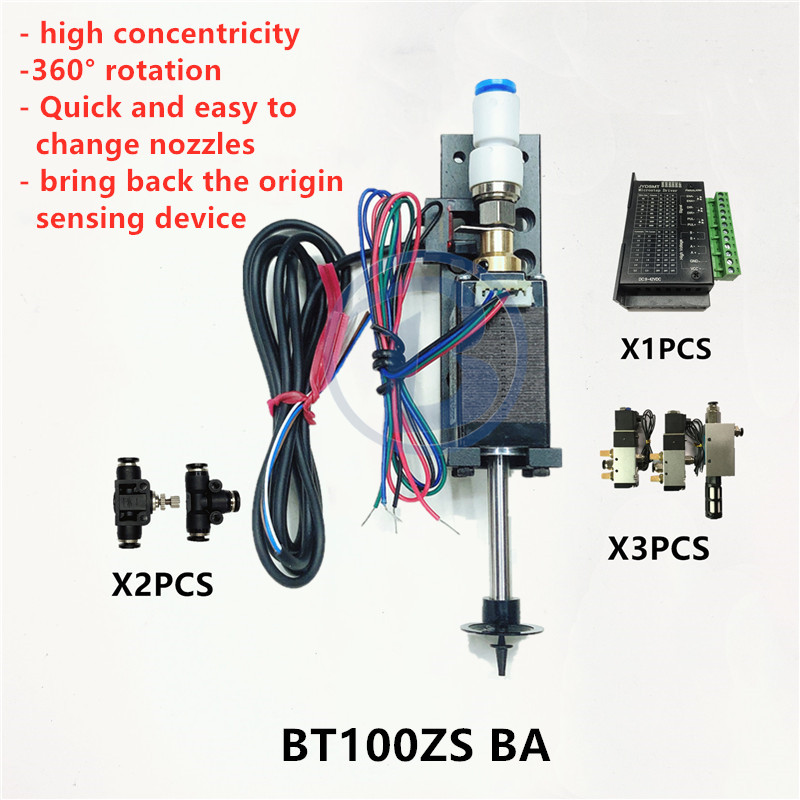 Image 4 - BT100 SMT HEAD Nema8 hollow shaft stepper for pick place head SMT DIY mountor 5mm special connector nozzle rotary joint-in Pneumatic Parts from Home Improvement