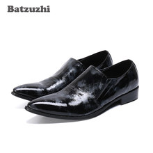 Batzuzhi Western Handmade Men Shoes Pointed Toe Genuine Leather Dress Shoes Party and Wedding Zapatos Hombre, Big Sizes 38-46(China)