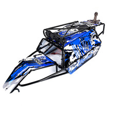 цена на Blue Color Body Shell GT Roll Cage Body Shell with Spare Tire Carrier and Lamp Bracket for HPI 5B Baja GT Upgrade Parts