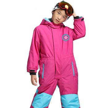 TWTOPSE Kids narciarstwo kombinezon snowboardowy kombinezon jednoczęściowy kombinezon zimowy odzież dziecięca chłopiec kurtka outdoorowa z izolacją tanie i dobre opinie Pasuje na mniejsze stopy niezwykle Proszę sprawdzić informacje o rozmiarach ze sklepu Chłopcy Kids Skiing Suit Coverall One Piece Snow Suit