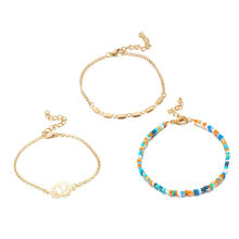 3Pcs Stainless Steel Charm Love Adjustable Bracelet Chain Anklet Gift Bead Bracelets for Women Vintage Bracelet Female #BA(China)