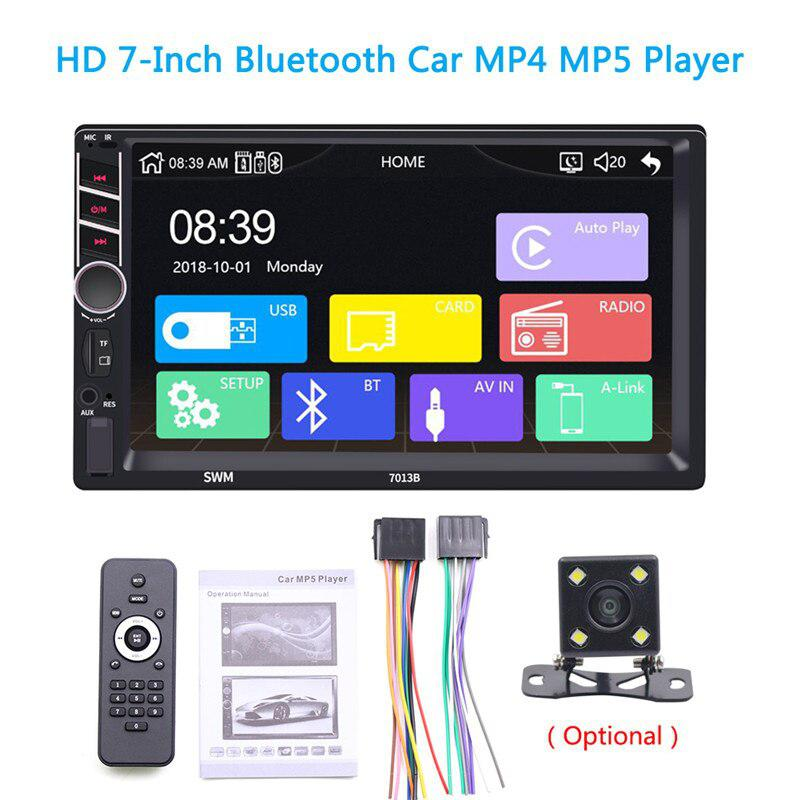 7 Inches HD Video Car MP4/MP5 Player Car MP3 Player Plug in Card USB Flash Drive FM Radio Reversing Image with Rear Camera 7013B