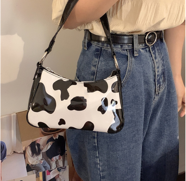 Female Small Bag Simple Style Patent Leather Fashion Bag Simple Vintage Messenger Shoulder Women's Handbag Cute  W3