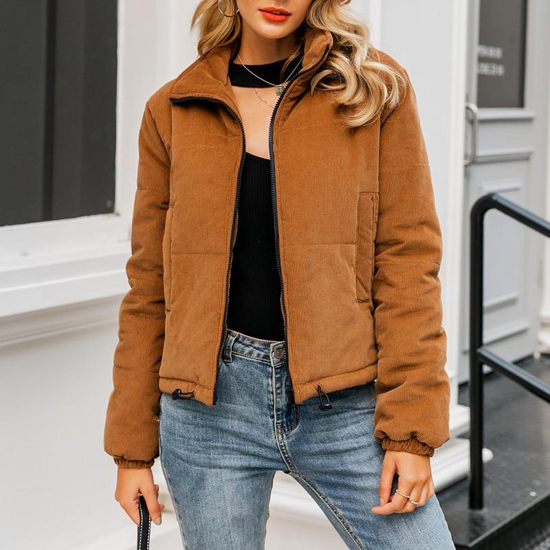 Casual Thick Parka Overcoat Winter Warm Fashion Outerwear Coats Street Wear Jacket coat female 21