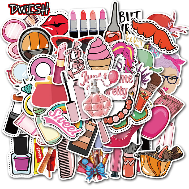 10/30/50pcs Kawaii Visco Girl Sticker Waterproof PVC Skateboard Suitcase Motorcycle Guitar Funny Graffiti Sticker Kid DIY Toy