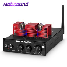Nobsound Hifi Vacuumbuizenversterker Bluetooth 5.0 Draadloze Ontvanger Desktop Stereo Audio Amp Usb Dac Power Amp APTX HD 160W * 2