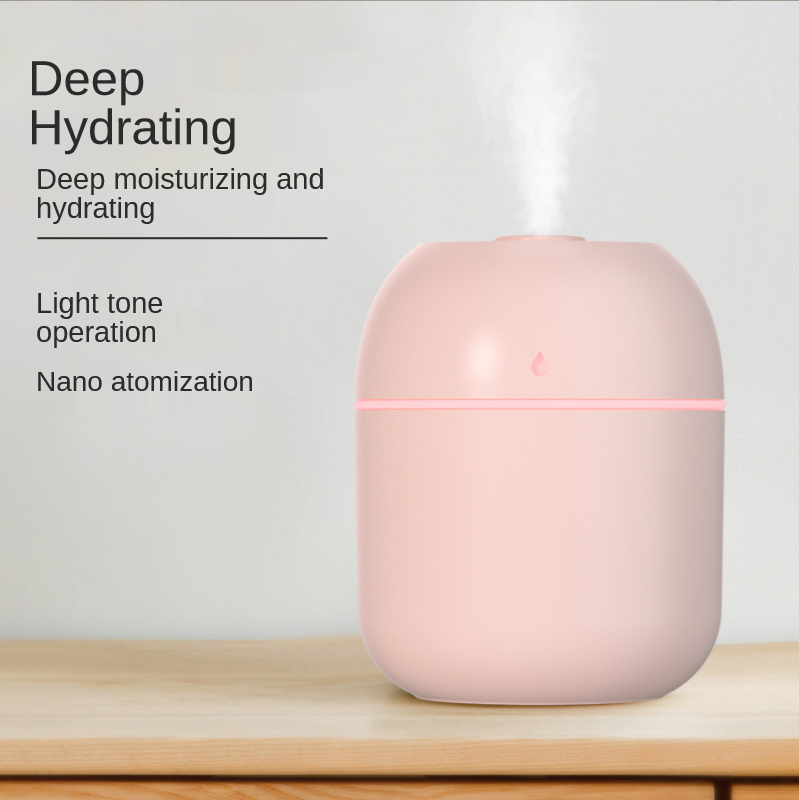 220ML Mini Portable Ultrasonic Air Humidifer Aroma Essential Oil Diffuser USB Mist Maker Aromatherapy Humidifiers for Home 2021