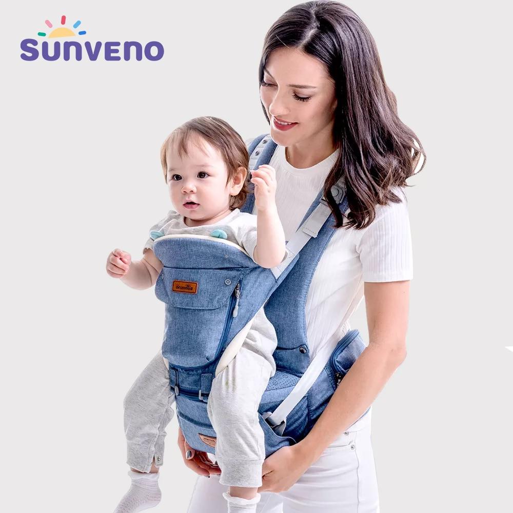 SUNVENO Baby Träger Vorne Baby Carrier Komfortable Sling-Rucksack Pouch Wrap Baby Kangaroo Hipseat Für Neugeborene 0-36 M