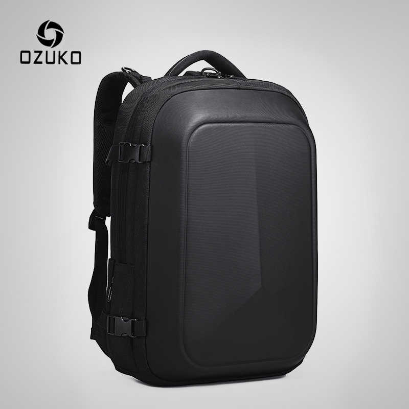 OZUKO Multifunction Waterproof 15.6 inch Laptop Backpacks Man USB Charging Large Capacity Rucksake Fashion Male Mochila 2019 New