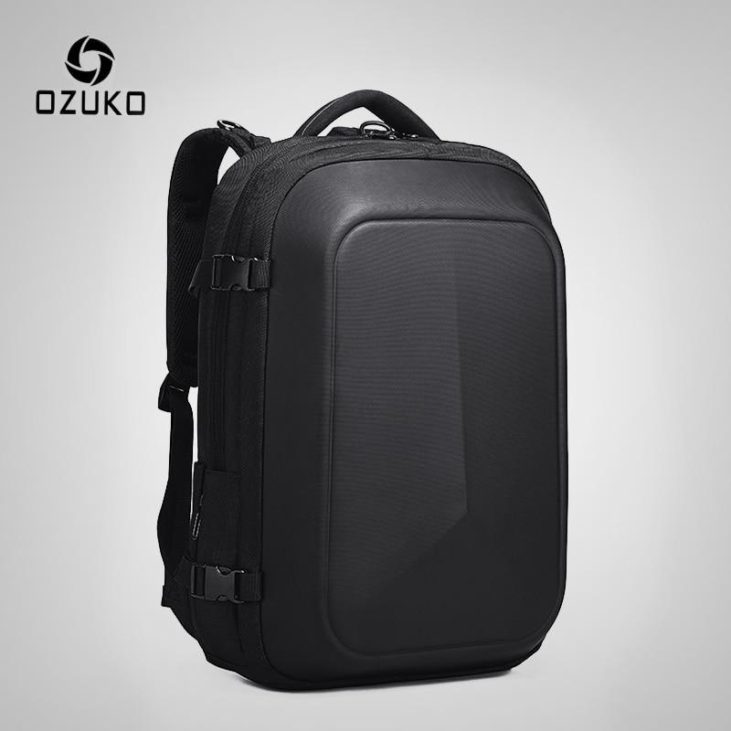 OZUKO Multifunction Waterproof 15.6 Inch Laptop Backpacks Man USB Charging Large Capacity Rucksake Fashion Male Mochila 2019 New