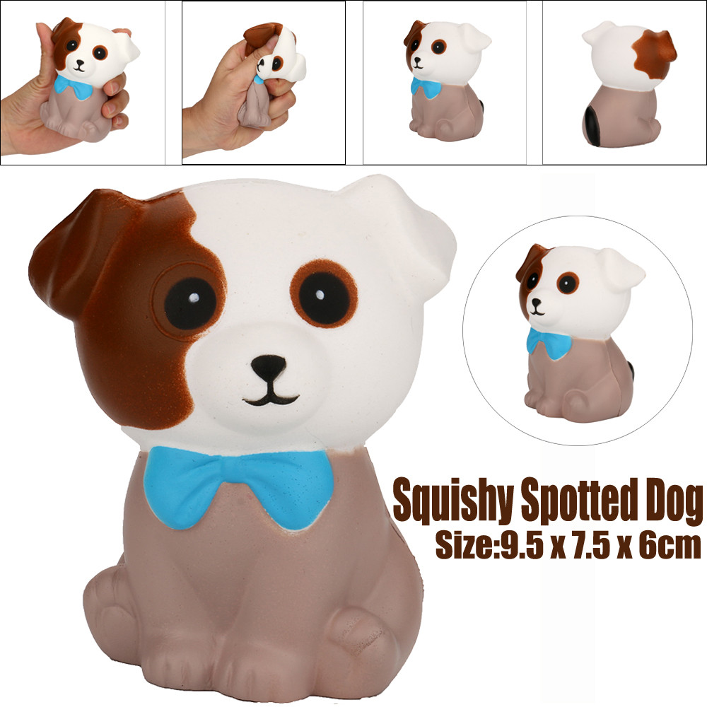 Mini Toy Squeeze Spotted Dog Cream Bread Scented Slow Rising Toys Phone Charm Gifts  Antistress Cute Animal Rising Toys L1218