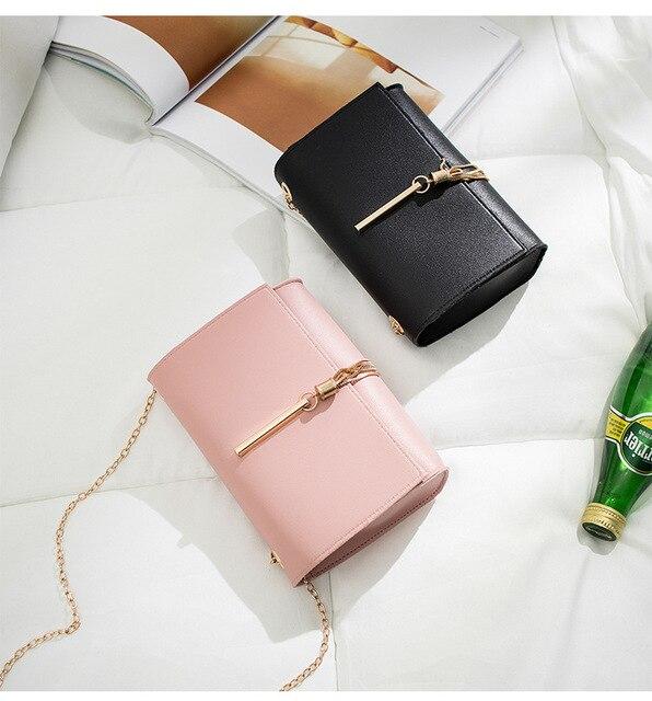 Korean ladylike bag PU Flap Single Chains Tassel Fashion Solid Hasp Shoulder Bags ladies hand bags lovely women's bag Uncategorized Fashion & Designs Ladies Bags Luggage & Bags Women's Fashion