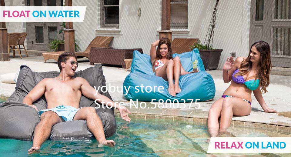 Large Size Water Floating Bean Bag Chair Made Of 420D Oxford-PVC Material 9
