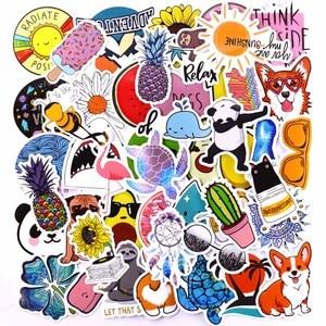 Image 5 - 20 스타일 Vsco 스티커 것들 50PCS 팩 쿨 핑크 소녀 스티커에 대 한 노트북 냉장고 전화 스케이트 보드 가방 스티커