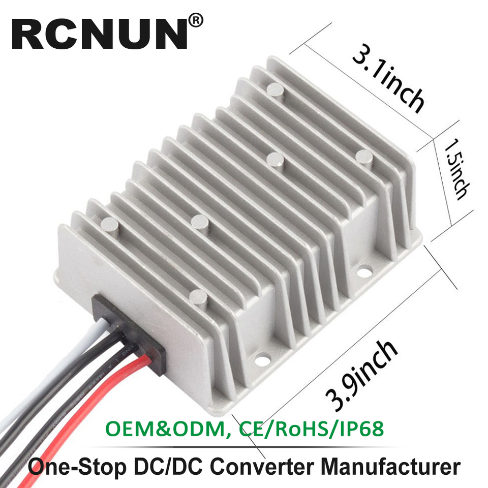 Aweking Waterproof DC//DC 48V Step Down to 12V 20A 240W Voltage Buck Converter Regulator Transformer Power Supply for Car Truck Vehicle CE Listed