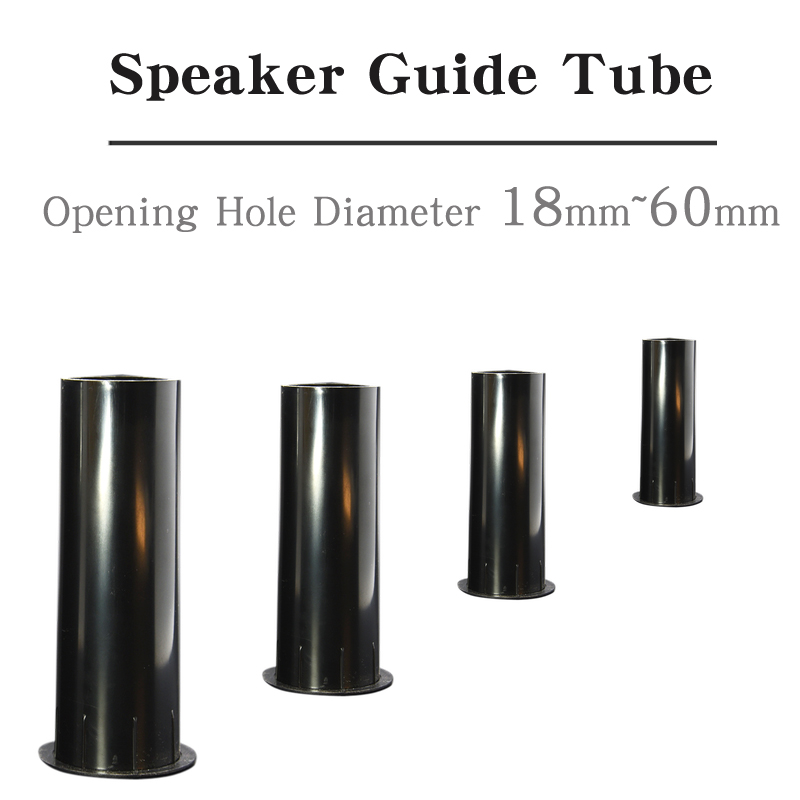 HIFIDIY LIVE Speaker Guide Tube 2 3 4 5 6.5 8 Inch BASS Subwoofer Loudspeaker Inverted Tube Port Auxiliary ABS Open Hole 18~60mm