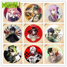 Free Shipping Anime Seraph of the end Brooch Pin Cosplay Badges For Clothes Backpack Decoration B022 anime seraph of the end cosplay yuichiro hyakuya backpack anime cartoon second element middle school student bag female backpack