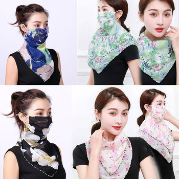New 2020 Face Mask Scarf Women Sun Protection Mouth Neck Silk Scarves Outdoor Riding Chiffon Cover Shawl Handkerchief - discount item  40% OFF Scarves & Wraps