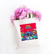 Handbag Tote-Bag Canvas-Bag Cloth Graphic Eco-Grocery Hope World Foldable Large-Capacity