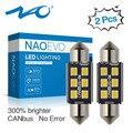 NAO c5w led CANBUS 28 мм 31 36 39 41 44 мм Festoon C10W Светодиодная лампа 2835 6 SMD 12V лампа для чтения автомобильный интерьерный светильник белый без ошибок