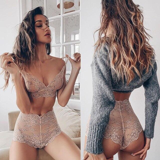 Komplet erotycznej, zmysłowej bielizny damskiej plus size, biustonosz i majtki, koronkowe kostiumy porno, seksowne ubrania z sex shopu, różne wzory, wygląda jak laleczka, w dużym rozmiarze