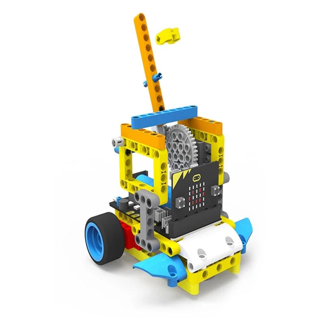 Program Intelligent Robot Building Block Car Kit Various Shapes Steam Programming Education Car For Micro:Bit(Including Or Not )