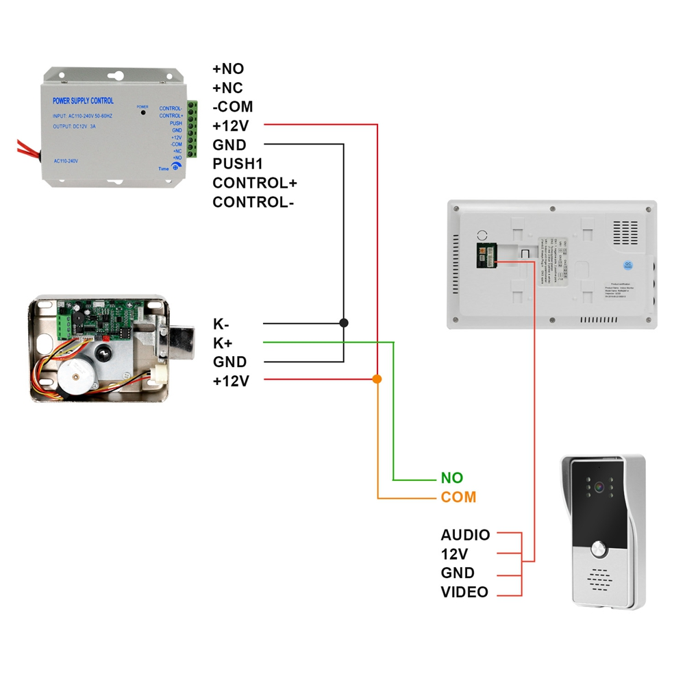 Image 5 - Homefong Wired Video Door Phone with Lock video intercom for Apartment Home Electric Lock Access Control System 3A Power Control-in Video Intercom from Security & Protection