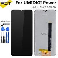 6 3 ''Black Für UMI Umidigi Power LCD Display und Touch Screen Digitizer Assembly Reparatur Teile + Werkzeuge Für UMI Power