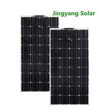 China Herstellung Hohe Effiziente Monokristalline Dünne Film 18v 100W Semi Flexible Solar Panel 12v batterie ladegerät 200w 300w 400w