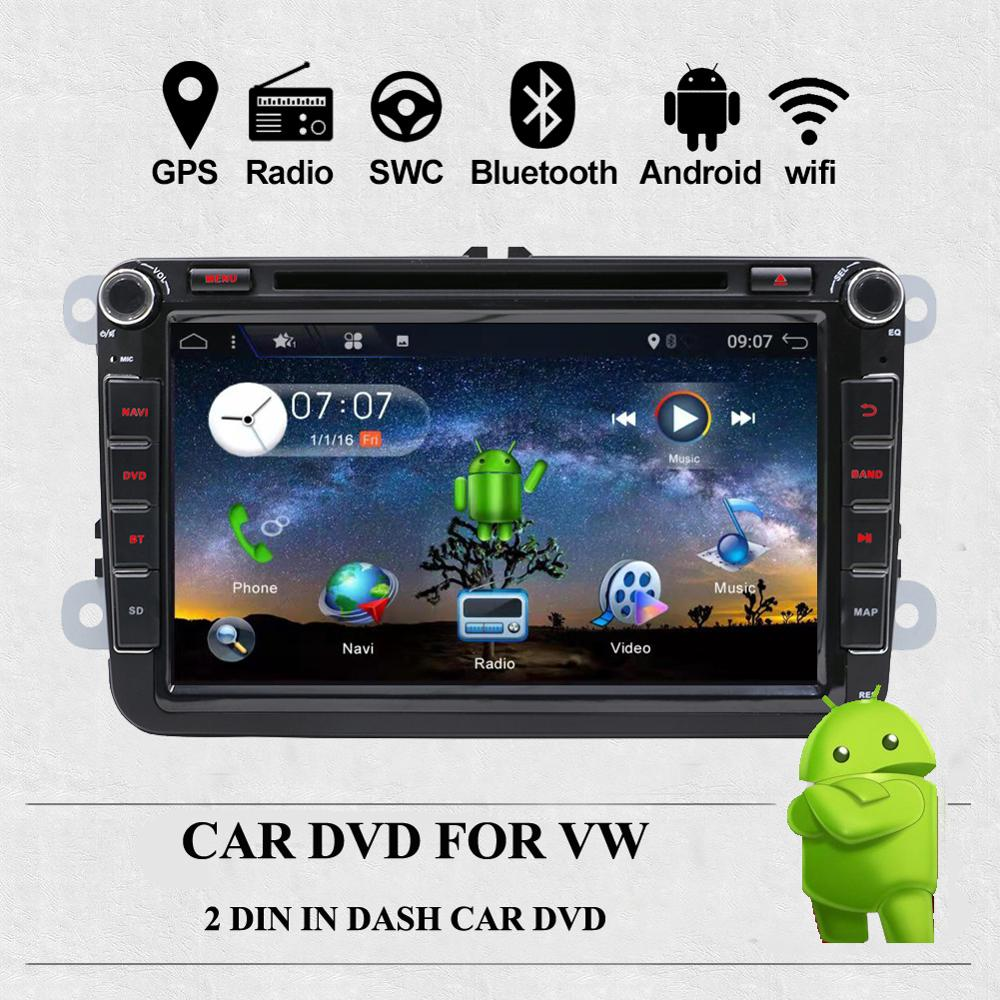 Bosion 2 Din Car Multimedia Player Android 10 Auto Radio For Skoda/Seat/Volkswagen/VW/Passat b7/POLO/GOLF 5 6 Car GPS Navigation image