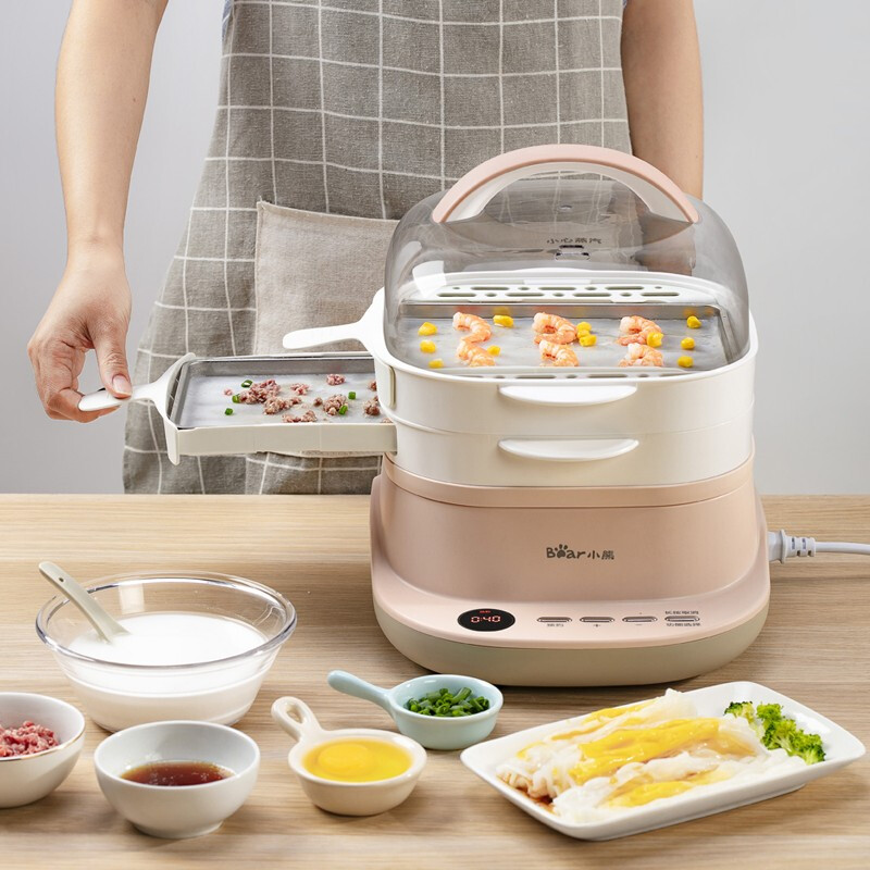 Electric Steamer Food Steamer Drawer Type Cooking Machine Intestine Powder Machine White Color Steamed Sausage