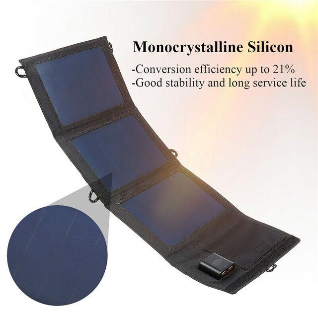 Painel solar dobrável 20 w 5 v dupla usb carregador solar portátil carregador de bateria solar painéis de células solares para telefones tablets ao ar livre