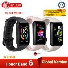 Honor – Bracelet connecté Band 6, AMOLED, Bluetooth, étanche, natation, Fitness, sommeil, moniteur de fréquence cardiaque, appels musicaux