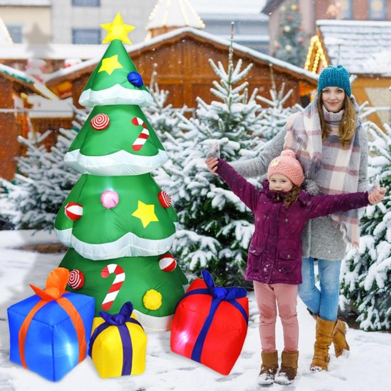 Image 5 - 1.5/2.1m Inflatable Christmas Tree 3D LED Christmas Decoration  For Home Outdoor Shop Display Window Decoration For ChristmasTrees   -