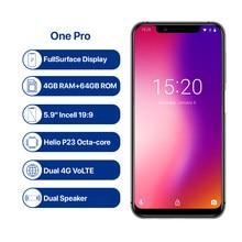 Umidigi um pro 4g smartphone 5.9 polegada android 8.1 mt6763 octa núcleo 2.0ghz 4gb ram 64gb rom 16.0mp câmera frontal impressão digital 3250mah