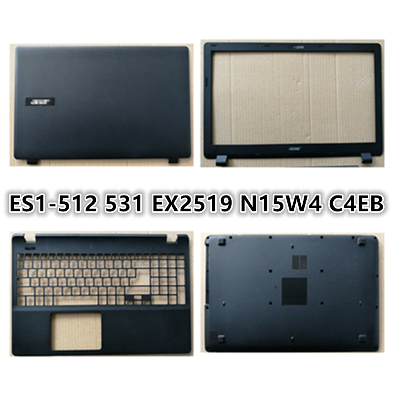 New LCD Back Cover Top Case Laptop For ACER ES1-512 ES1-531 EX2519 N15W4 C4EB LCD Front Bezel/Palmrest/Bottom Base Cover Case