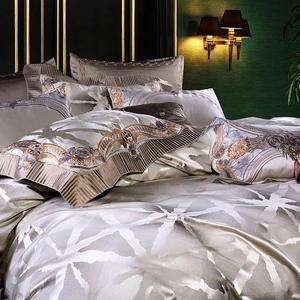 Image 5 - Svetanya luxury Brocade Bedding Set king queen double size Bed Linens