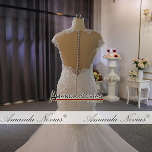 Image 2 - New model special lace full beading wedding dress mermaid wedding gown real work