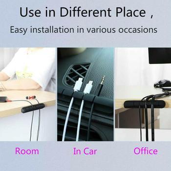 Cable de datos de silicona, Cable para auriculares, Cable para ratón, teclado, organizador de cables, Clips para sujetar cables, A7I1