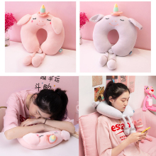 U-shaped Pillow Neck Pillow Bed Pillow Cervical Pillow Cute Girl Pillow Neck Travel Pillow Car Nap Neck Pillow Pink Pillows