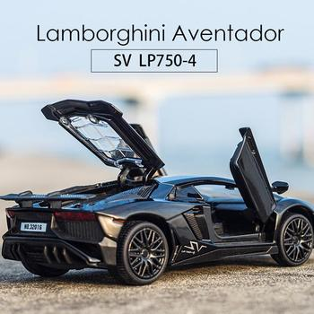 Real 1:32 LP750 Alloy Car Models Diecast Model Vehicles Miniature Toy Car Sound Light Toys Collection Car Models For Boy Gift