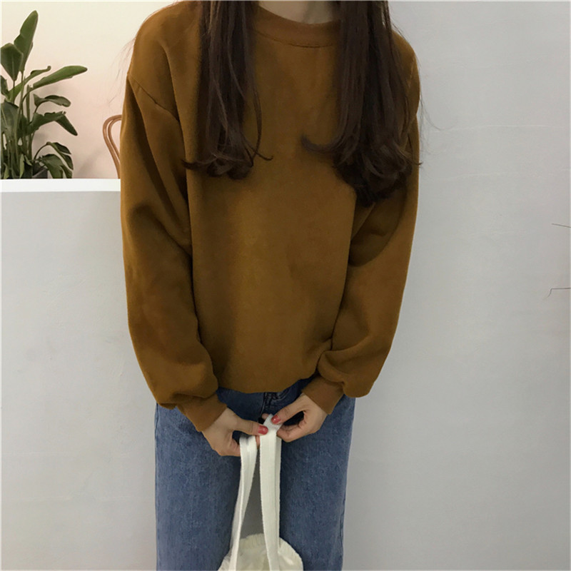 Hd44d614c9e2e449493d86e6e997e1b82e - Autumn winter Harajuku Solid Sweatshirt Women Long Sleeve Hoodie Loose Women Hoodies Sweatshirts Casual Tracksuit